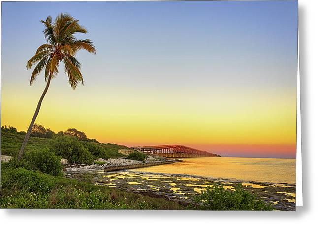Florida Keys Sunset Greeting Card by Swank Photography