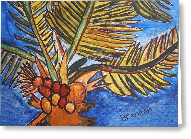 Florida Palm Greeting Card by Artists With Autism Inc