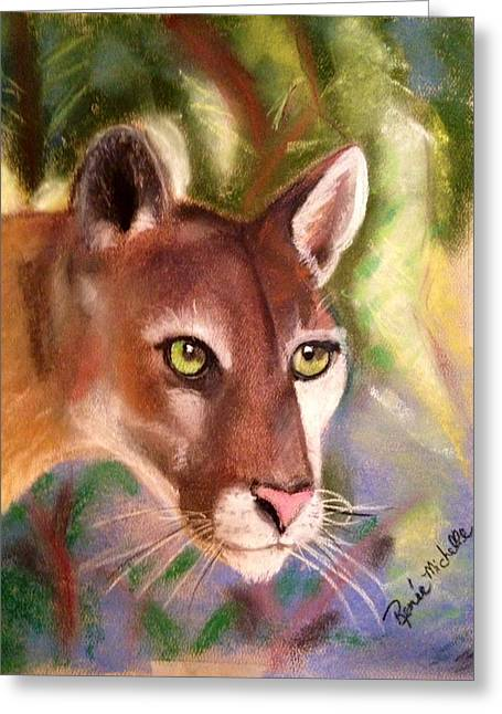 Florida Panther Greeting Card by Renee Michelle Wenker