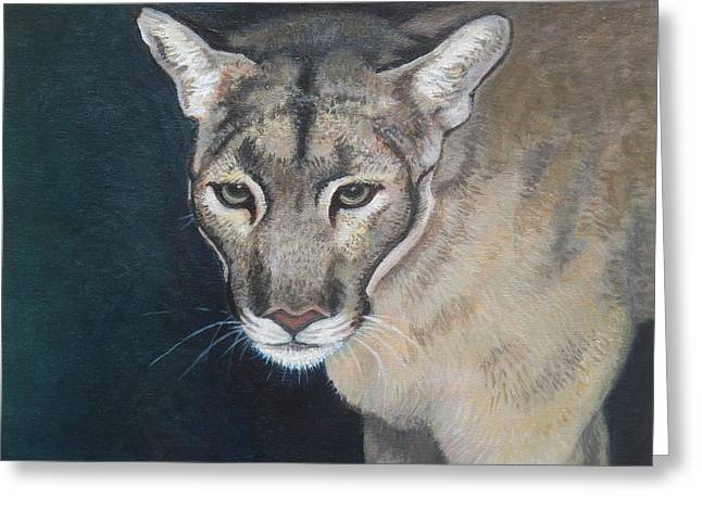 Florida Panther Greeting Card by Sharon Guy