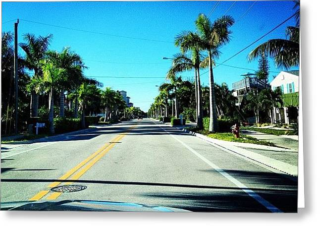 Florida Drive Greeting Card