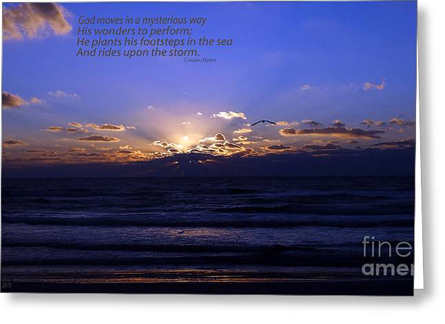Florida Sunset Beyond The Ocean  - Quote Greeting Card