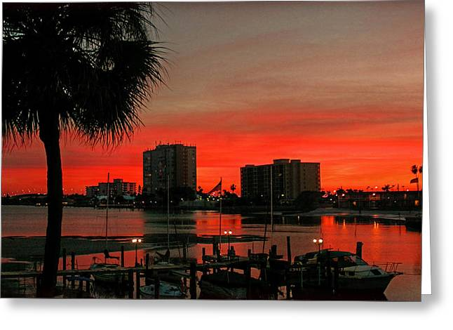 Greeting Card featuring the photograph Florida Sunset by Hanny Heim