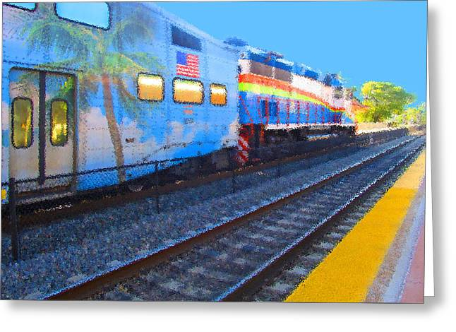 Florida Train Greeting Card