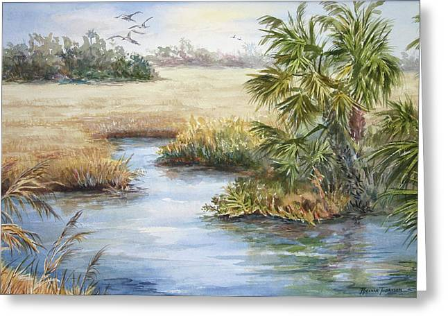 Greeting Card featuring the painting Florida Wilderness IIi by Roxanne Tobaison