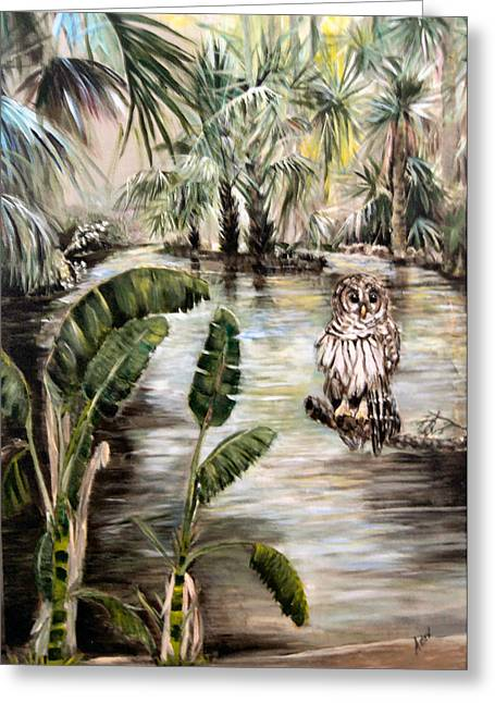 Florida's Barred Owl Greeting Card