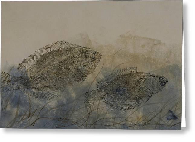 Flounder Duo Greeting Card