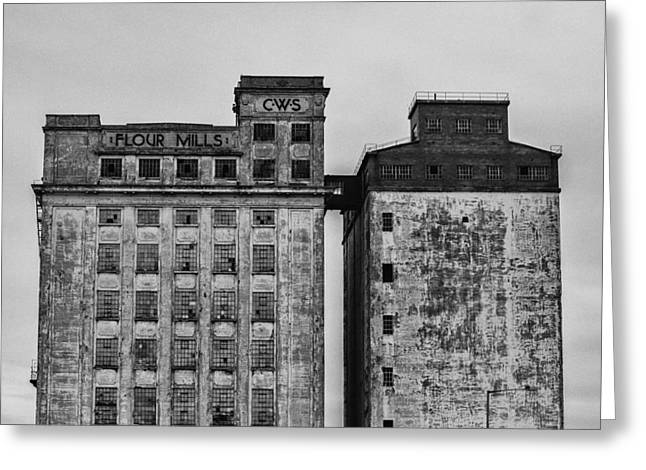 Flour Mills Greeting Card by Andrew Menzies