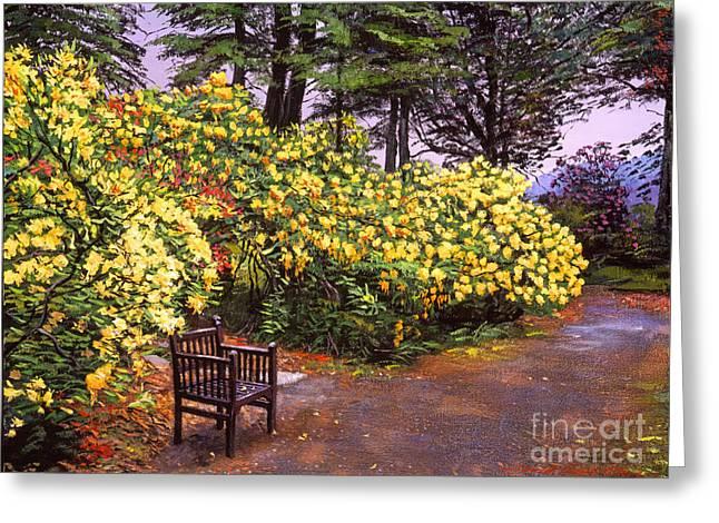 Flourishing Garden Painting by David Lloyd Glover