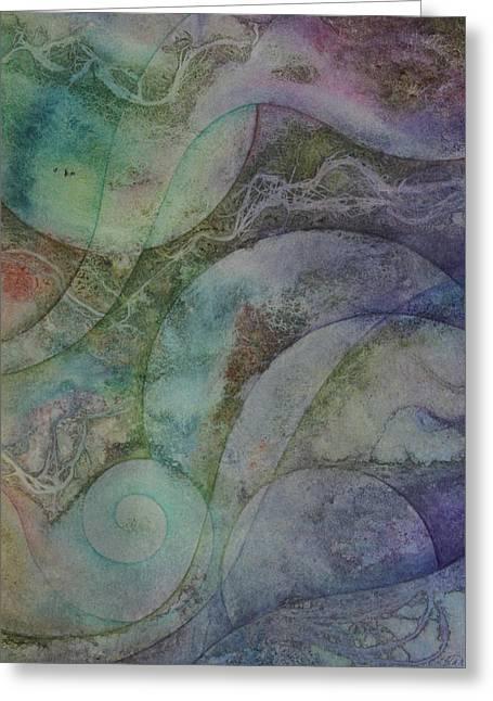 Flow 6 Greeting Card by Ellen Starr