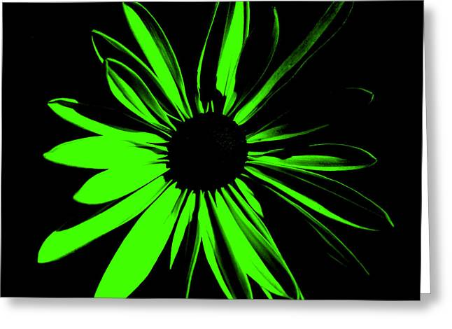 Greeting Card featuring the digital art Flower 12 by Maggy Marsh