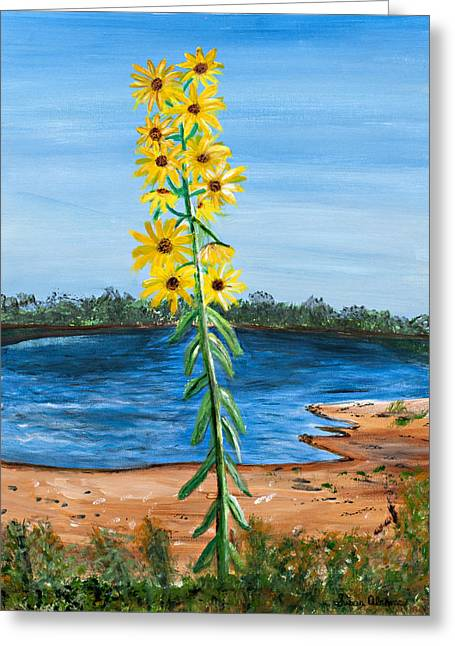 Flower Amidst Drought Greeting Card