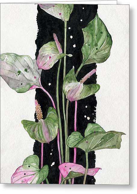 Flower Anthurium 02 Elena Yakubovich Greeting Card