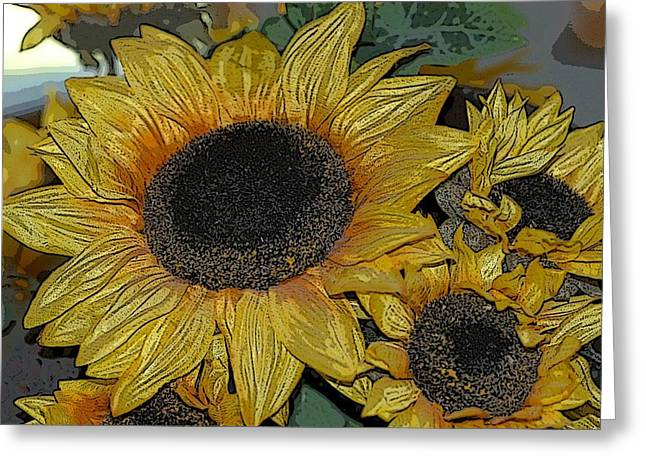 Flower Art04 Greeting Card
