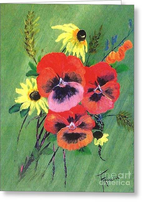 Flower Bunch Greeting Card