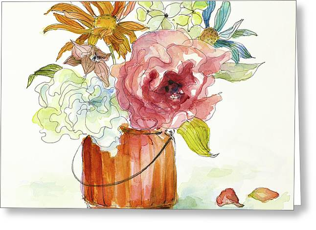 Flower Burst In Vase I Greeting Card by Lanie Loreth