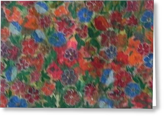 Flower Carpet Greeting Card by Usha Rai