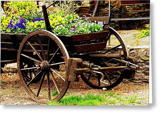 Flower Cart Greeting Card by Design Windmill