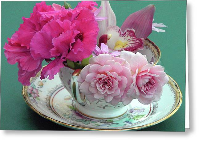 Flower Cup 4 Greeting Card