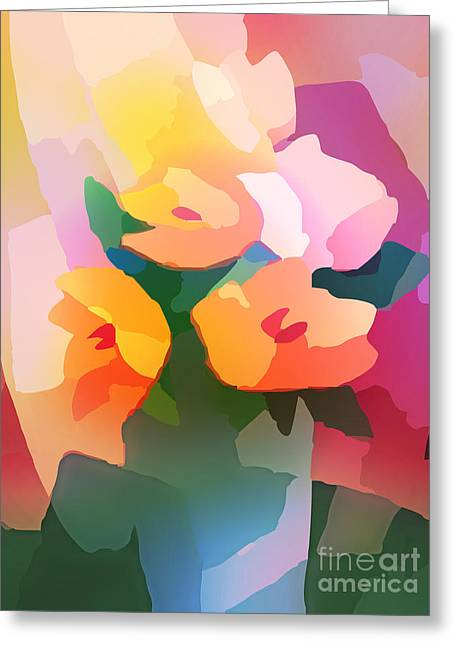 Flower Deco II Greeting Card