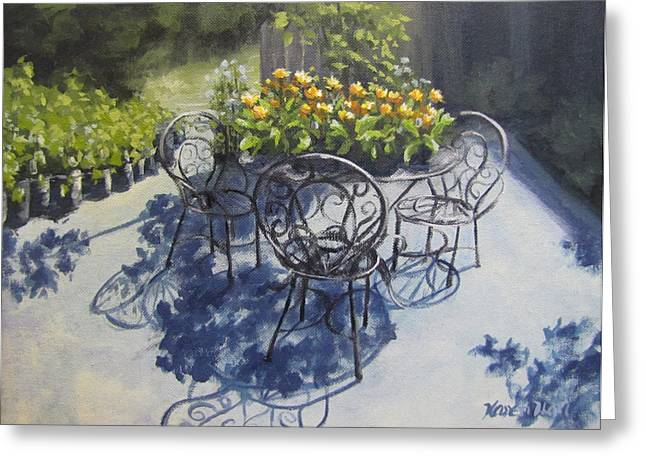 Flower Feast Greeting Card by Karen Ilari
