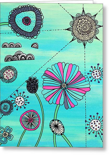 Flower Fever Greeting Card by Susan Claire