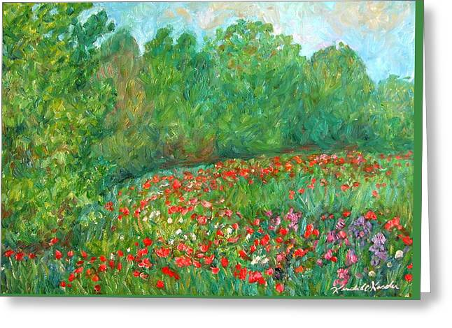 Flower Field Greeting Card by Kendall Kessler