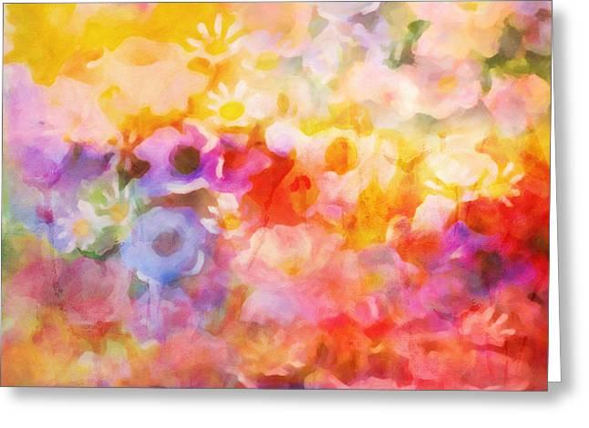 Flower Fiesta Greeting Card by Lutz Baar