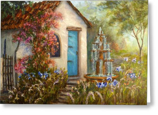 Flower Garden Paintings Greeting Card