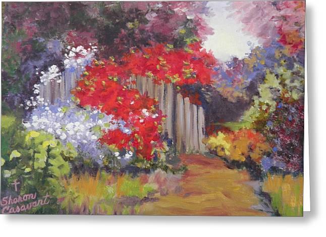 Flower Garden Greeting Card