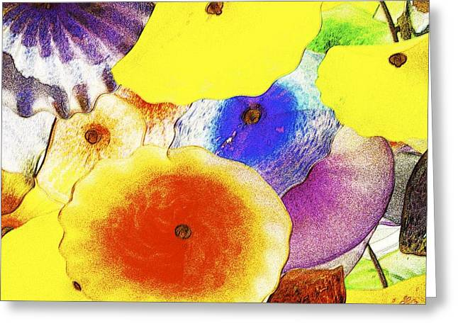 Flower Glass 6 Greeting Card by Michael Anthony