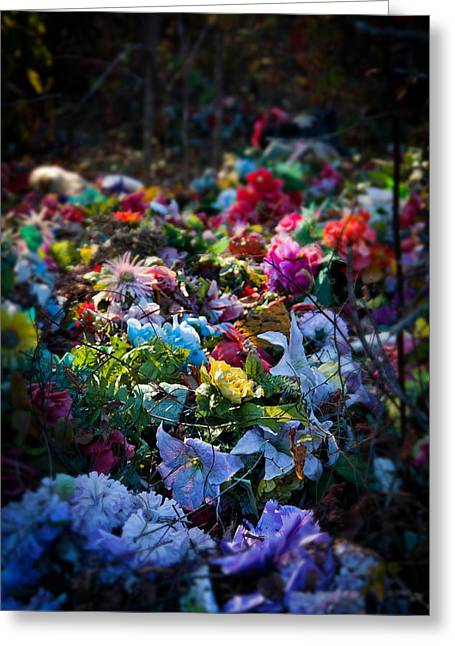 Flower Graveyard Greeting Card