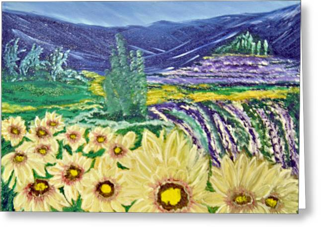 Flowers In August Greeting Card by Suzanne Surber