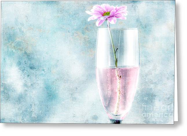 Flower In The Drink Greeting Card