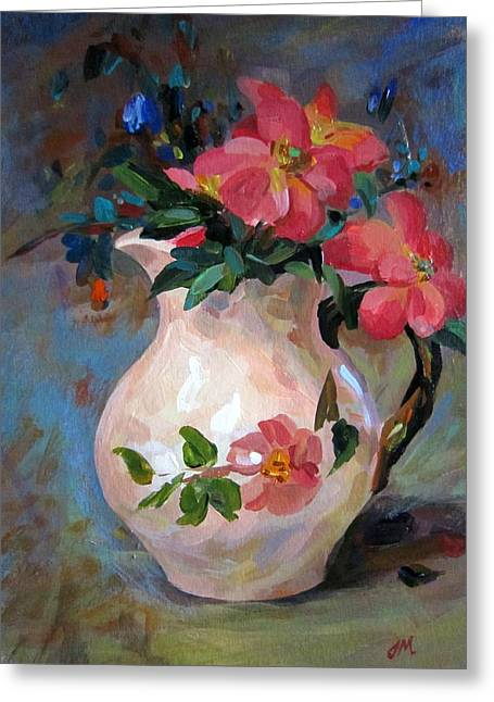 Flower In Vase Greeting Card