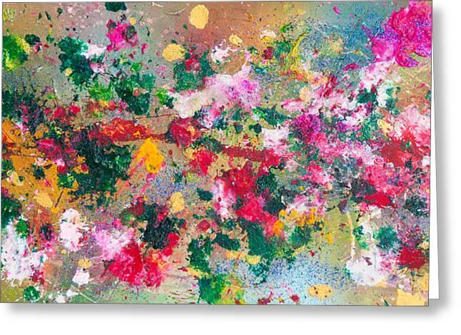 Flower Kaleidoscop Greeting Card by Maria  Lankina