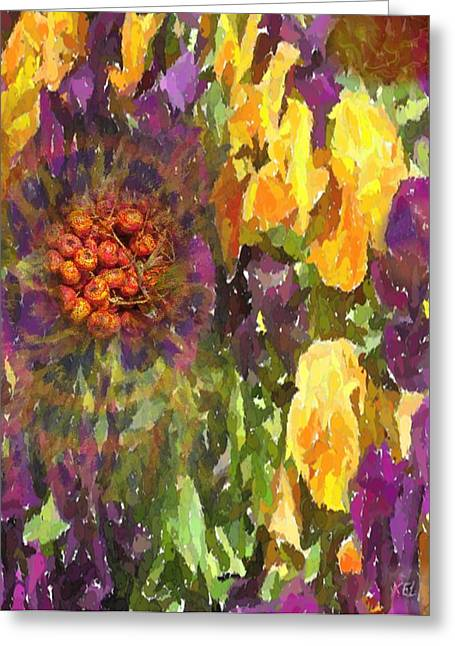 Greeting Card featuring the digital art Flower by Kelly McManus