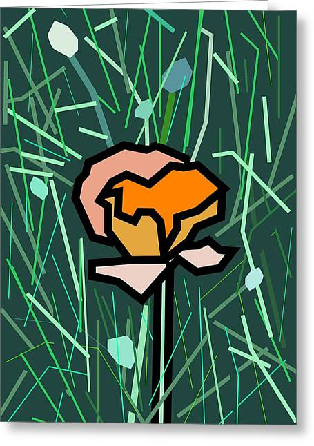 Flower Greeting Card by Kenneth North