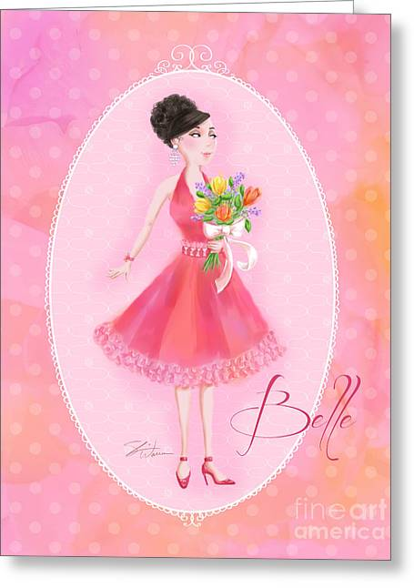 Flower Ladies-belle Greeting Card