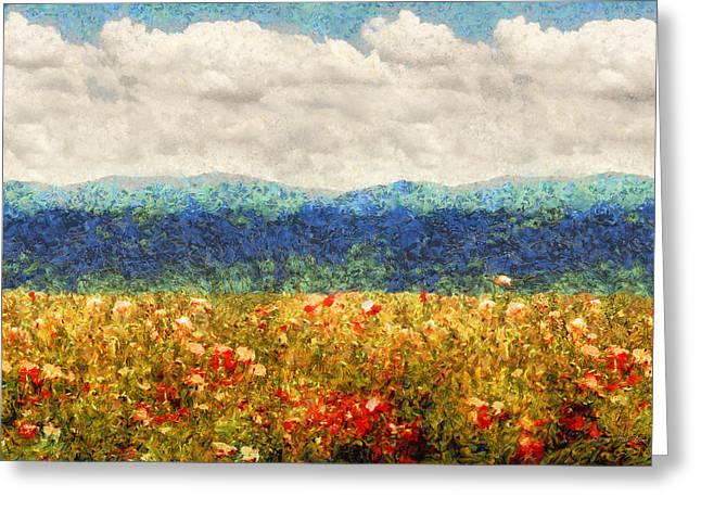 Flower - Landscape - Fragrant Valley Greeting Card
