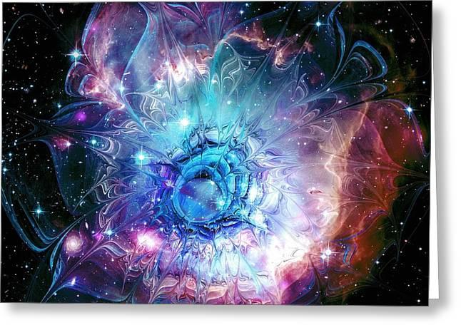 Flower Nebula Greeting Card