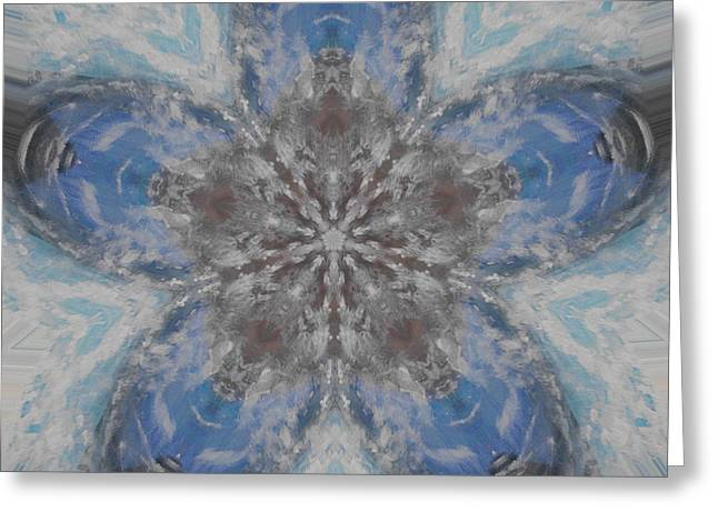 Flower Of Life Greeting Card by Erica  Darknell