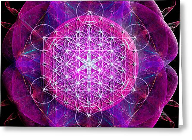 Flower Of Life No Two Greeting Card