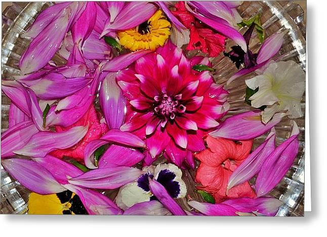 Flower Offerings - Jabalpur India Greeting Card