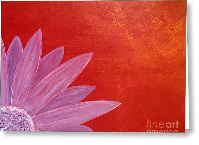 Flower On Metallic Background Greeting Card