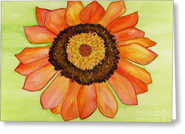 Flower Orange Greeting Card