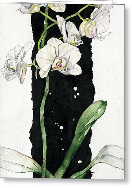 Flower Orchid 05 Elena Yakubovich Greeting Card by Elena Yakubovich
