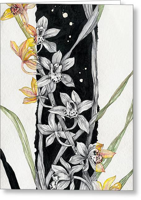 Flower Orchid 07 Elena Yakubovich Greeting Card by Elena Yakubovich