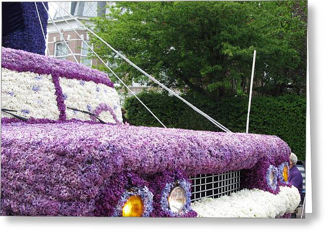 Flower Parade. 03 Blumencorso Holland 2011 Greeting Card by Ausra Huntington nee Paulauskaite