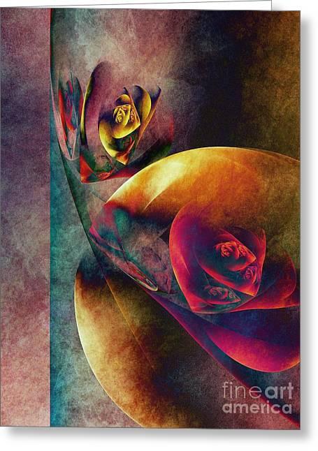 Flower Planets Greeting Card by Klara Acel